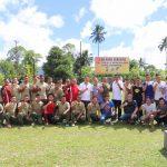 Wujudkan Sinegitas, Pemkot Tomohon, Polres Tomohon dan TNI Olahraga Bersama