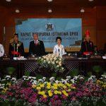 Walikota & Wawali hadiri Sidang Paripurna Istimewa dalam Rangka HUT ke-15 Kota Tomohon