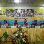 Pemkot Tomohon terima Kunjungan Komite III DPD RI