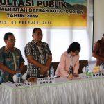 Ketua DPDR Miky Wenur Hadiri Konsultasi Publik Penyempurnaan Rancangan Awal RKPD 2019
