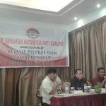 Bedah Pilpres dan Cawapres 2019, GIAK Sulut dan IPI ungkap kandidat pendamping Jokowi dan lawannya