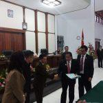 Bupati JWS Hadiri Rapat Paripurna Akhir Masa Jabatan Kepala Daerah 2013-2018