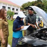 Tim BPK Periksa Kendaraan Dinas Pemkot Tomohon