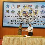Pemkab Minahasa komit jika ada kekurangan diperbaiki , Bupati Mewoh Serahkan LKPD Tahun 2017 ke- BPK RI