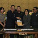 DPRD Tomohon Gelar Paripurna Istimewa Rekomendasi Pansus LKPJ Wali Kota T.a 2017