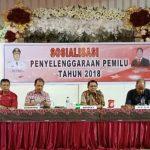 Kesbangpol Minahasa Gelar Sosialisasi Penyelenggaraan Pemilu Tahun 2018 , Gumangsing : Pemerintah dan masyarakat mengawasasi serta berpartisipatif dalam Pilkada