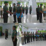 Kodim 1310/Bitung Lepas Personil Pindah Tugas dengan Korps Raport