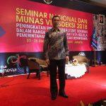 Sekwan F Lantang Hadiri Seminar Nasional dan MUNAS VI Adeksi 2018