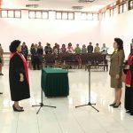 Dilantik Ketua Pengadilan Negeri Tondano, Ivonnne Andries Jabat Wakil Ketua DPRD Minahasa