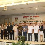 KPU Minahasa Tetapkan Royke- Robby Bupati dan Wakil Bupati Terpilih Periode 2018-2023 di Minahasa.