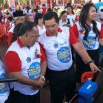 """Sekda Korengkeng dampingi Wagub Kandouw pada """"Pencanangan Imunisasi campak dan Rubella di Minahasa."""