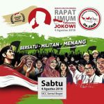Lusa, 50.000 Orang Dipastikan Hadiri Konsolidasi Relawan Jokowi