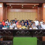 Setwan DPRD Kota Tomohon Terima Kunker Setwan DPRD Kabupaten Halmahera Utara