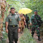 Bersama TNI, Pemkot Tomohon Tinjau Lokasi Sasaran TMMD Ke-103 Tahun 2018