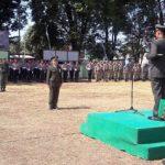 Upacara Peringatan HUT TNI Ke-73, Dandim 1310/Bitung Bertindak Sebagai Irup