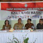 JFE Membuka Rakor Dan Sosialisasi Dana Bagi Hasil Kabupaten/Kota Se-Sulut