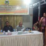 PHK Pungus Sosialisasikan Perda Kota Tomohon Nomor 4/2014 Tentang Bagunan Gedung