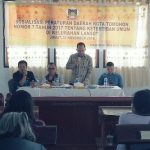 Djemmy Sundah Sosialisasikan Perda Tibum Di Kelurahan Lansot