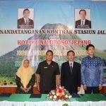 Kota Tomohon Indonesia Dan Kota Minamiboso Jepang, Tandatangani Kontrak Pengembangan Stasiun Jalan