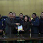 DPRD Tomohon Gelar Paripurna Penyampaian Pendapat Akhir Walikota Terhadap Ranperda APBD T.a 2019