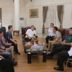 Walikota Jimmy Eman, Tatap Muka Dengan KPU Tomohon