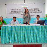 Maria Pijoh Sosialisasikan Perda 4/2014 Di Kolongan Dan Kolongan Satu