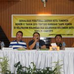 Sekretariat DPRD Tomohon Sosialisasi Perda 11/2016 Di Kolongan dan Kongan Satu
