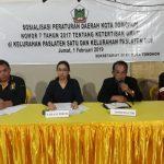 Ladys Turang, Sosialisasikan Perda 7/2017 Di Paslaten Satu Dan Paslaten Dua
