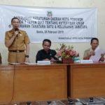 Setwan Kota Tomohon Sosialisasi Perda Tibum Di Tara tara