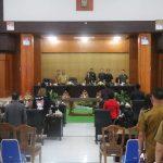 DPRD Tomohon Gelar Paripurna Tanggapan Walikota Terhadap PU Fraksi