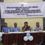 Sekretariat DPRD Tomohon Sosialisasikan Perda Pengendalian dan Penanggulangan Rabies Di Paslaten