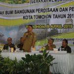 Walikota Eman, Buka Gebyar PBB P2 Kota Tomohon Tahun 2019