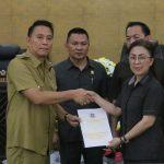 Jimmy Eman Hadiri Paripurna DPRD Penjelasan Walikota, Ranperda Penyertaan Modal PD Pasar