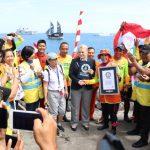 Alam Mendukung, Rekor Dunia Selam Berhasil Pecah di Pantai Teluk Manado