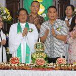 Walikota Eman Hadiri Ibadah Syukur Hut Ke-169 Jemaat GMIM Damai Sejahtera Lahendong