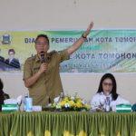 Ketua DPRD Miky Wenur Hadiri Dialog Pemerintah Kota Tomohon Bersama Linmas Se-Kota Tomohon