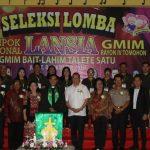 Walikota JFE, Buka Seleksi Lomba Lansia GMIM Rayon IV Tomohon