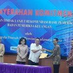 Walikota JFE Hadiri Penyerahan Komitmen Penyelesaian Tindak Lanjut Rekomendasi BPK