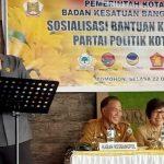 Ketua Sementara DPRD Tomohon Christo Eman, Narasumber Sosialisasi Banparpol Di Kota Tomohon
