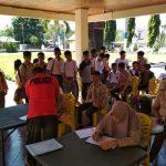 Puluhan siswa SMA/SMK Ikuti Sosialisasi Binlat Calon Anggota Polri di Polres Minsel