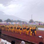 Meski Diguyur Hujan, Kontingen Sangihe Antusias Ikuti Opening Ceremony Porprov Ke-X Di Kota Bitung