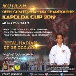 Situmorang : FORKI Minahasa Gelar Open Karate Minahasa Championship Kapolda Cup 2019