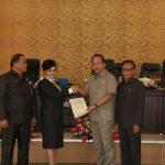 DPRD Tomohon Gelar Paripurna Penjelasan Walikota, Ranperda Penyelenggaraan Kearsipan