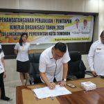Penandatanganan Penetapan Perjanjian Kinerja Tahun 2020 Di Lingkungan Pemerintah Kota Tomohon