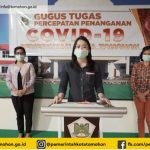 Data Terkini Penyebaran Covid-19 Di Kota Tomohon, Terkonfirmasi Positif Tetap 10 Orang