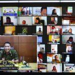 Walikota JFE Rapat VidCon Dengan Camat Dan Lurah Se Kota Tomohon