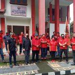Akibat Pembakaran Bendera PDI-P, Kader Dan Simpatisan Moncong Putih Duduki Polres Sangihe