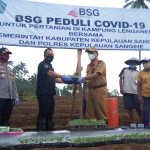 BSG Cabang Tahuna Peduli Petani Terdampak Covid-19 Di Lenganeng