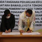 Terkait Pengawasan Netralitas ASN Dalam Pilkada 2020, Walikota JFE Tandatangani Pejanjian Kerjasama Dengan Bawaslu Kota Tomohon