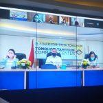 Diskominfo Raker Berasama Komisi Dua DPRD Kota Tomohon Lewat Vicon